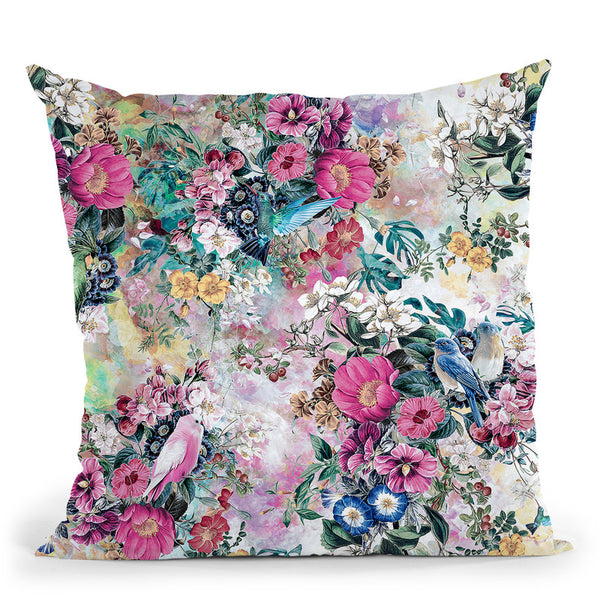Birds Throw Pillow By Riza Peker