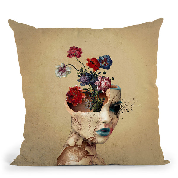 Broken Beauty Throw Pillow By Riza Peker