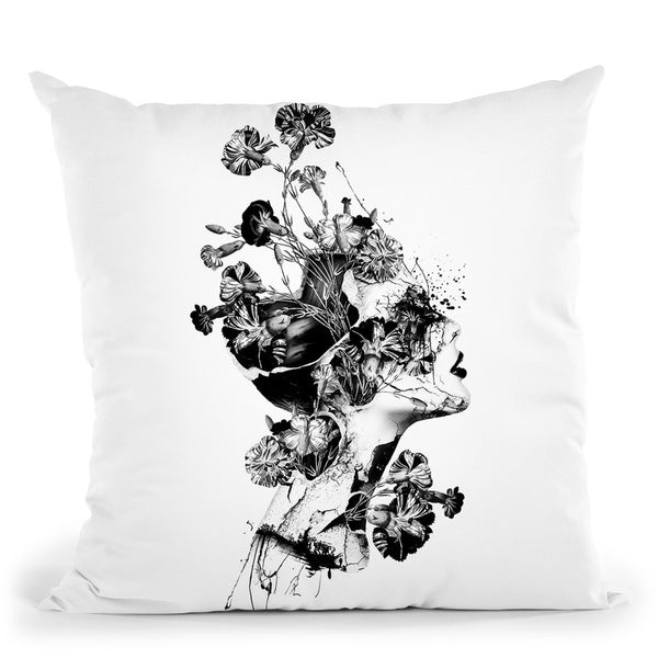 Broken Bw Throw Pillow By Riza Peker