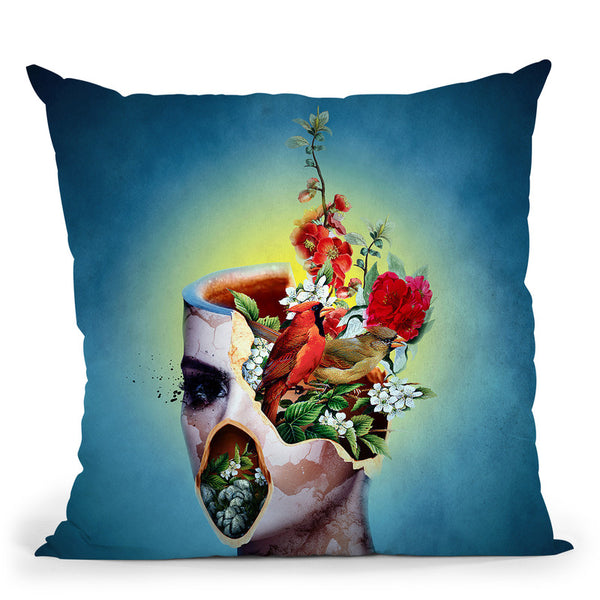 Broken V Throw Pillow By Riza Peker