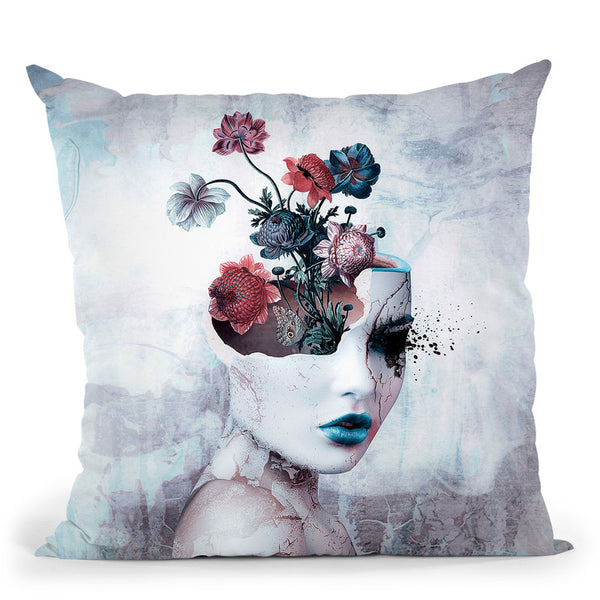 Broken Throw Pillow By Riza Peker