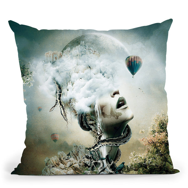 Captured Throw Pillow By Riza Peker