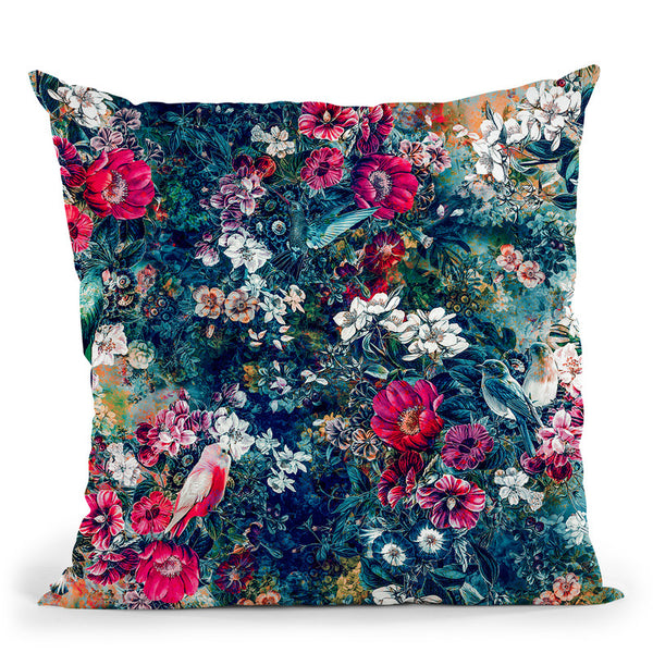 Dark Throw Pillow By Riza Peker