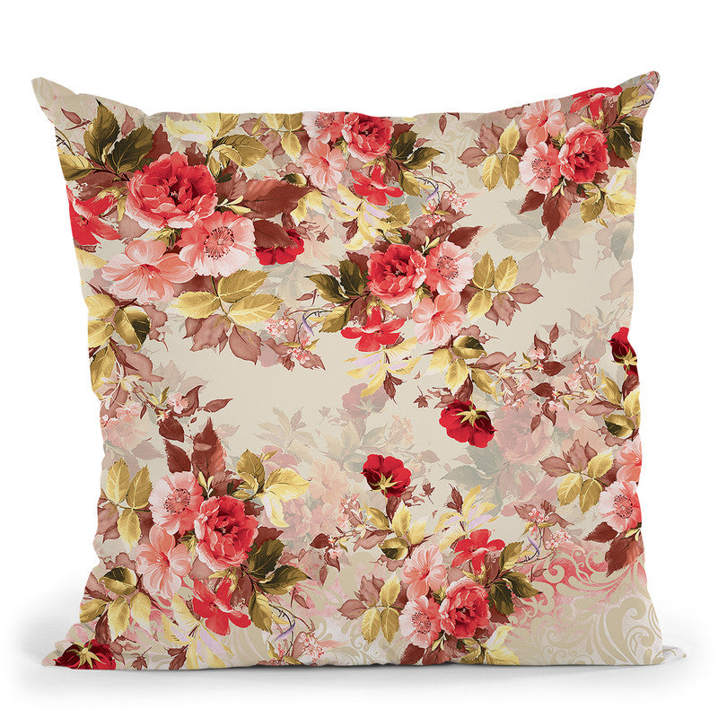 Floral2 Throw Pillow By Riza Peker