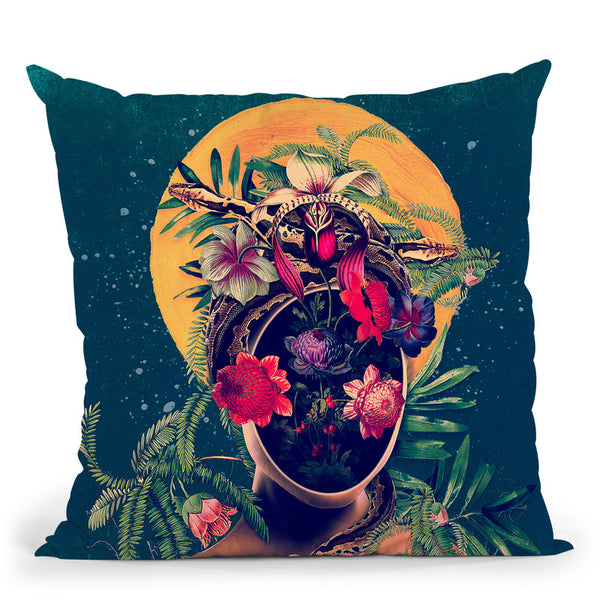 Oxygen Throw Pillow By Riza Peker