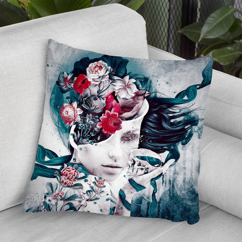 Solitude Throw Pillow By Riza Peker