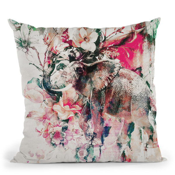 Elephant Ii Throw Pillow By Riza Peker