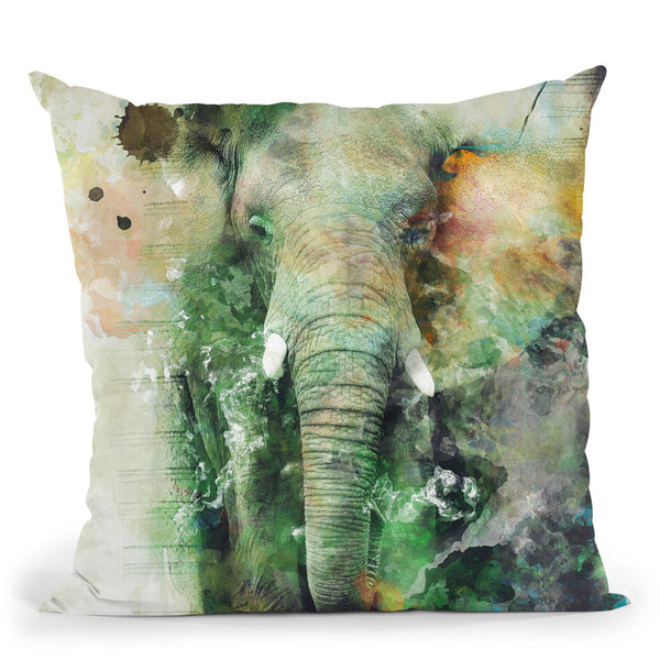 Elephant Throw Pillow By Riza Peker