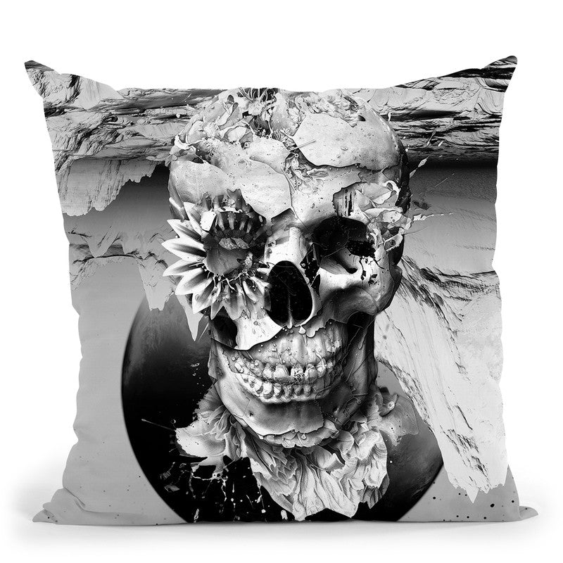 Skeleton I Throw Pillow By Riza Peker