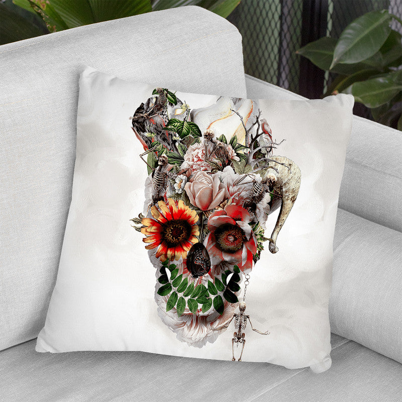 Broken Horn Throw Pillow By Riza Peker