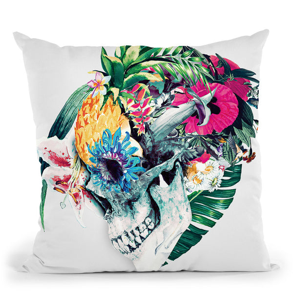 Skull St Throw Pillow By Riza Peker