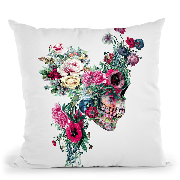 Skull Vii Throw Pillow By Riza Peker