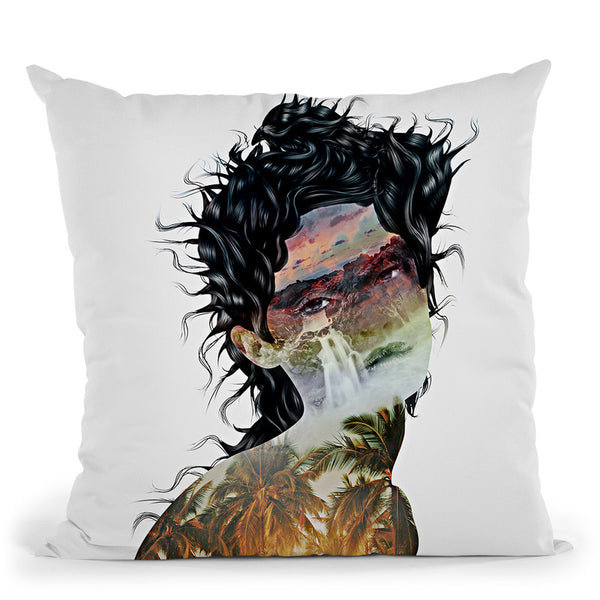 Summer Tears In Paradise Throw Pillow By Riza Peker