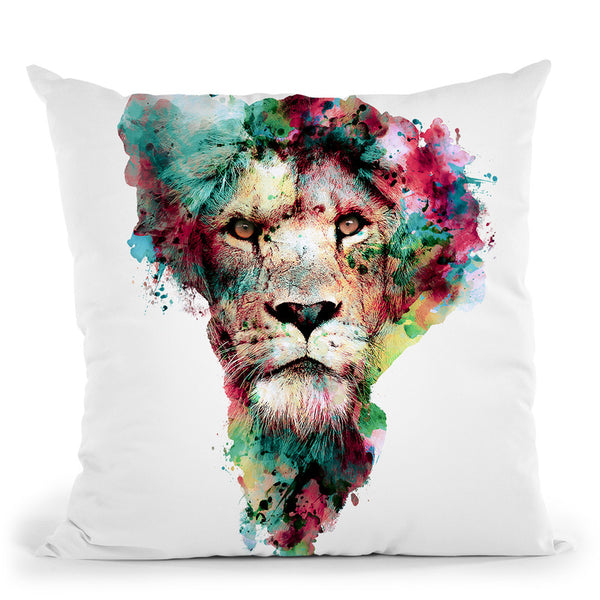 The King Throw Pillow By Riza Peker