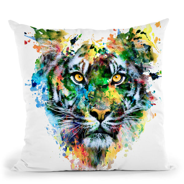 Tiger Iv Throw Pillow By Riza Peker
