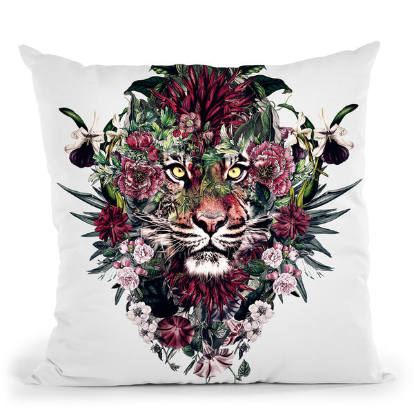 Tiger V Throw Pillow By Riza Peker