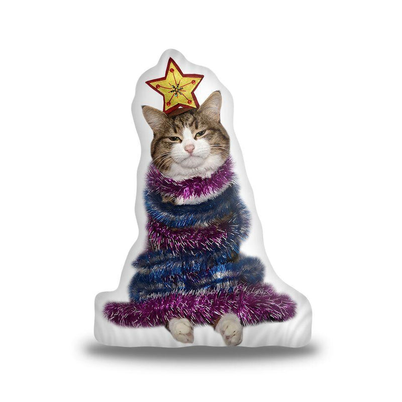 Rexiecat Catmas Tree Custom Shaped Pillow
