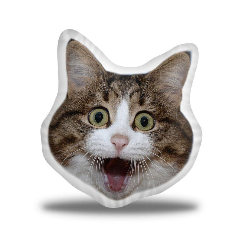 Rexiecat Excited Custom Shaped Pillow