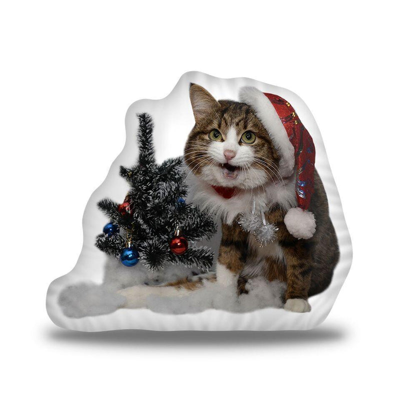Rexiecat Santa Custom Shaped Pillow