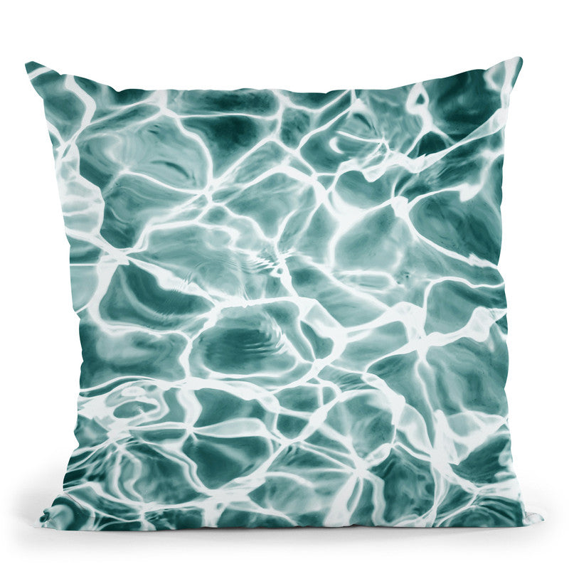 Aqua Throw Pillow By Sisi And Seb