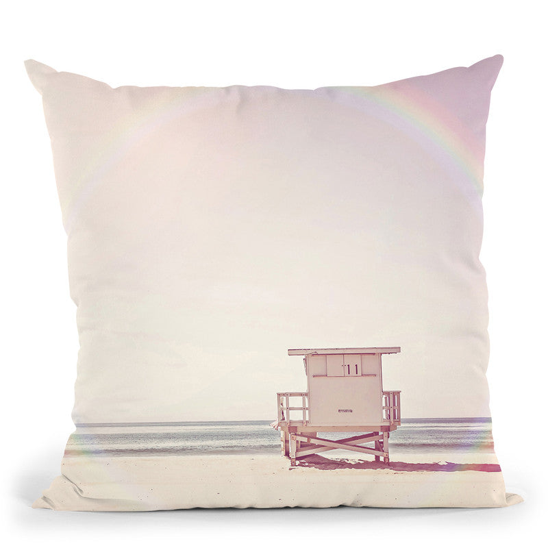 Beach Hut Throw Pillow By Sisi And Seb