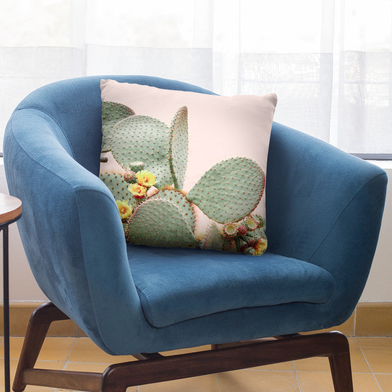 Blooming Cactus Throw Pillow By Sisi And Seb