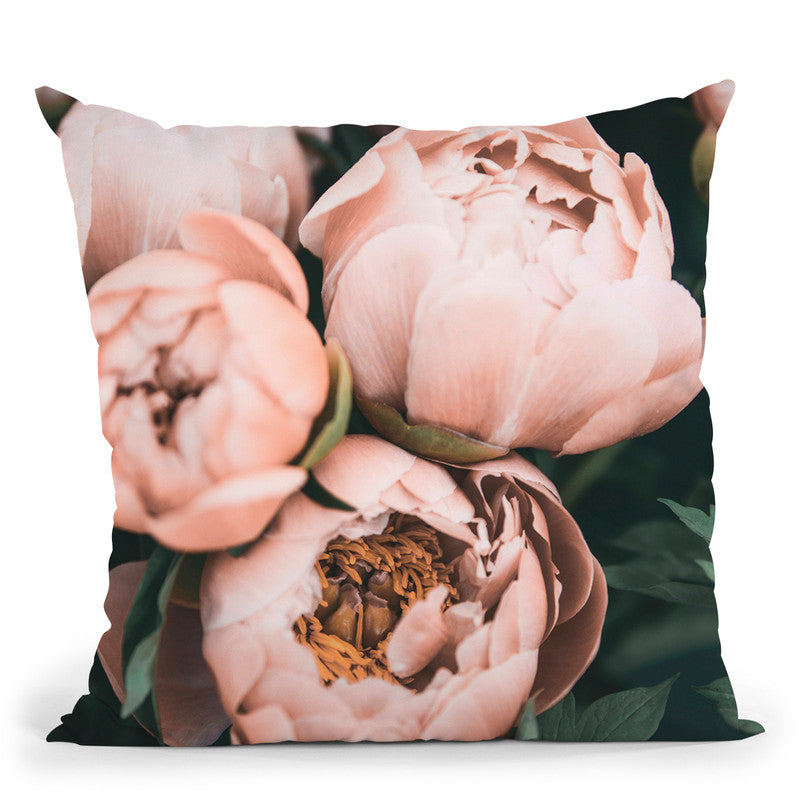 Blush Peony Throw Pillow By Sisi And Seb