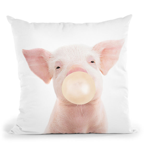 Bubble Gum Pig Throw Pillow By Sisi And Seb