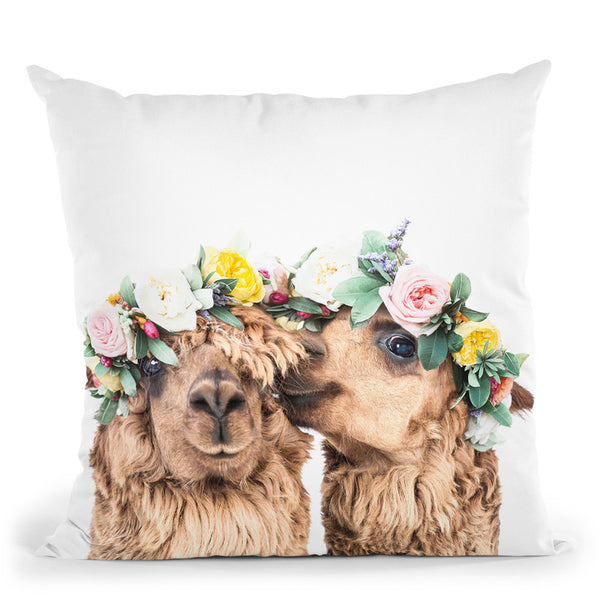 Flowers In Her Hair Throw Pillow By Sisi And Seb