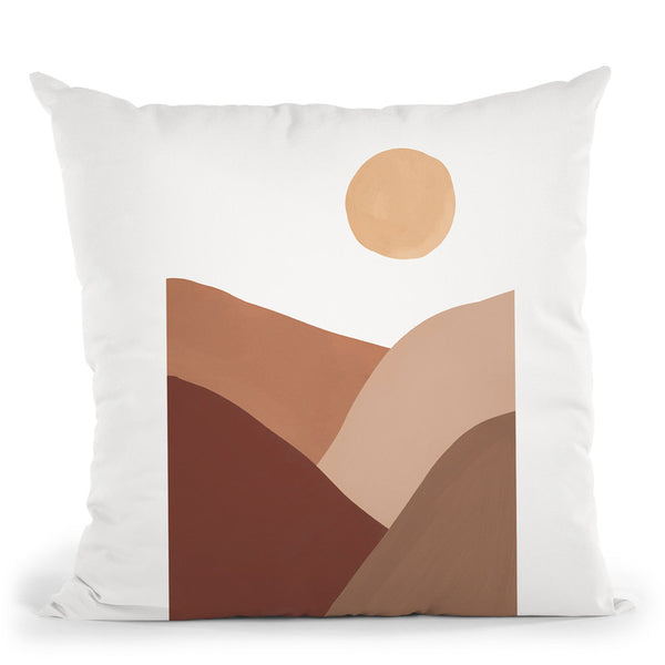 Graphic Desert Throw Pillow By Sisi And Seb