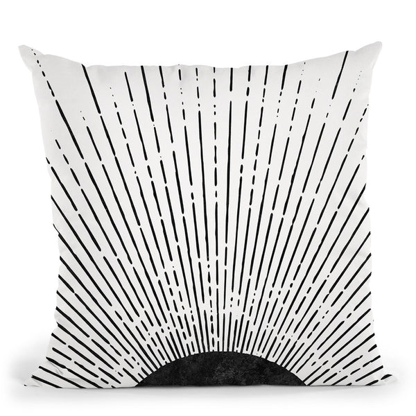 Graphic Sun Throw Pillow By Sisi And Seb