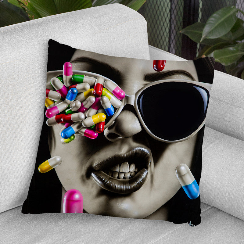 Love Is A Harddrug To Quit Throw Pillow By Scott Rohlfs