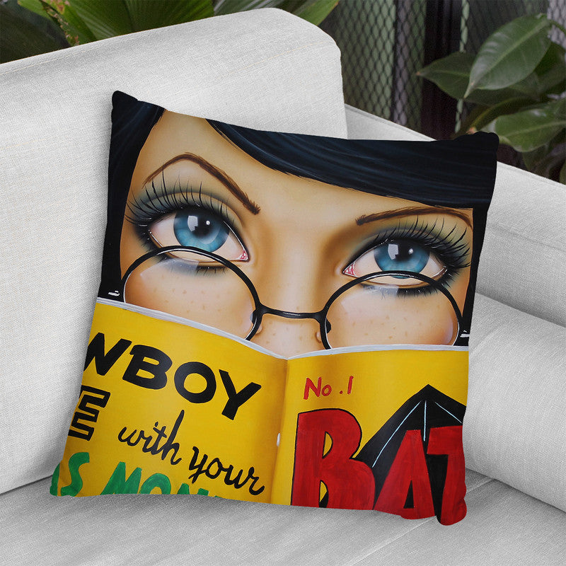 Easy Reading Throw Pillow By Scott Rohlfs