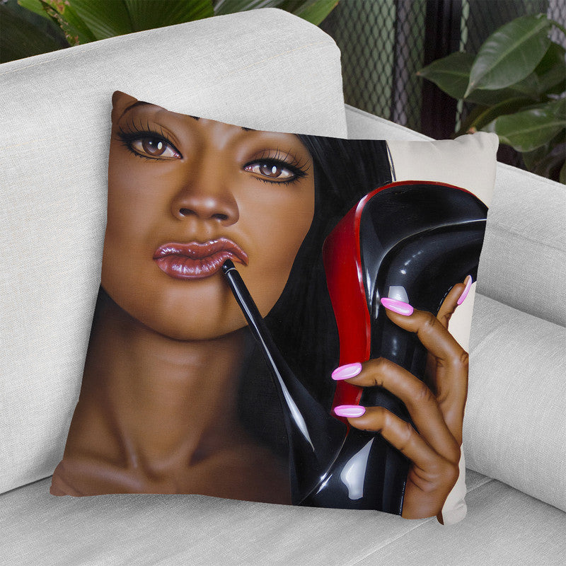 Shoe Problem Throw Pillow By Scott Rohlfs