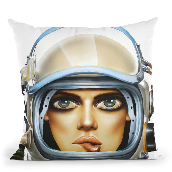 Spaced Throw Pillow By Scott Rohlfs