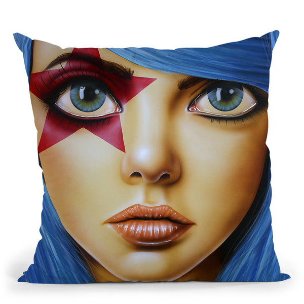 Stary Eyed Throw Pillow By Scott Rohlfs