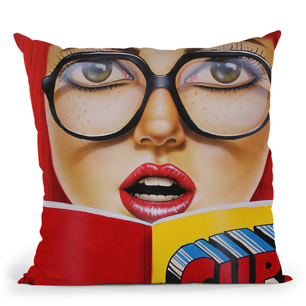 Super Reading Throw Pillow By Scott Rohlfs