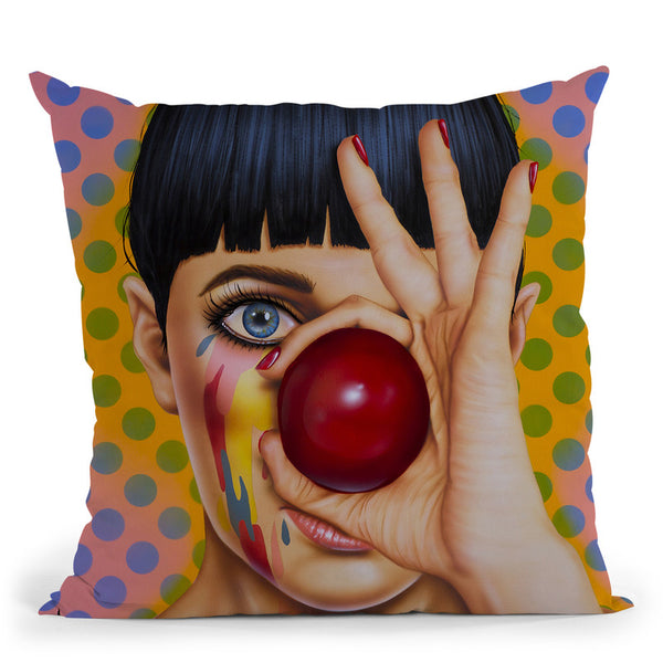 Tears Of A Clown Throw Pillow By Scott Rohlfs