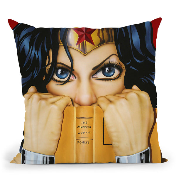 The Confident Woman Throw Pillow By Scott Rohlfs