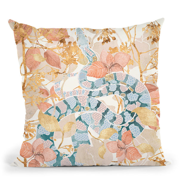 Coral Spring Garden Throw Pillow By Spacefrog Designs