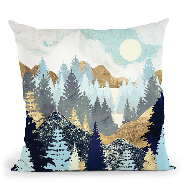 Forest Vista Throw Pillow By Spacefrog Designs