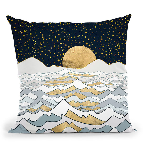 Golden Ocean Throw Pillow By Spacefrog Designs