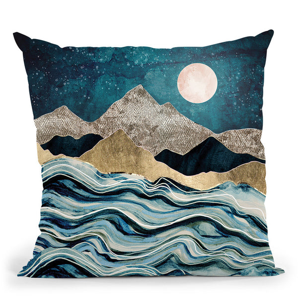 Indigo Sea Throw Pillow By Spacefrog Designs