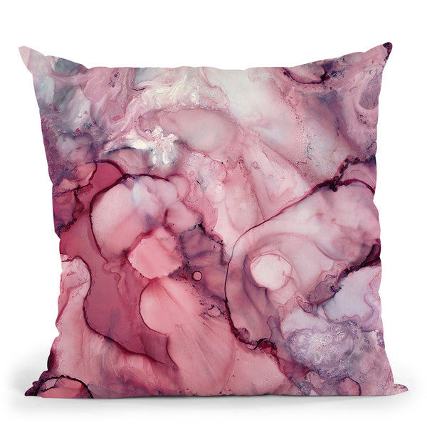 Liquid Mauve Abstract Throw Pillow By Spacefrog Designs