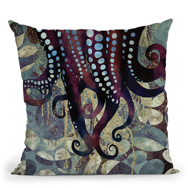 Metallic Ocean Ii Throw Pillow By Spacefrog Designs