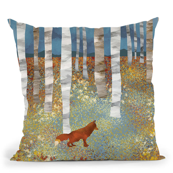 Autumn Fox Throw Pillow By Spacefrog Designs