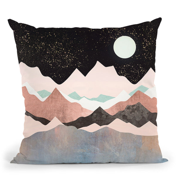 Midnight Stars Throw Pillow By Spacefrog Designs