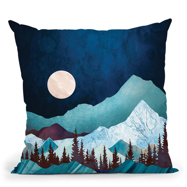 Moon Bay Throw Pillow By Spacefrog Designs