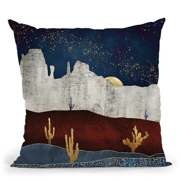 Moonlit Desert Throw Pillow By Spacefrog Designs