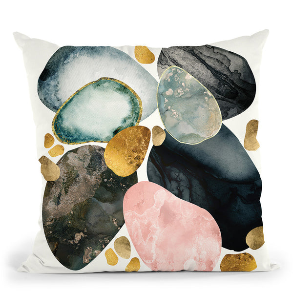 Pebble Abstract Throw Pillow By Spacefrog Designs